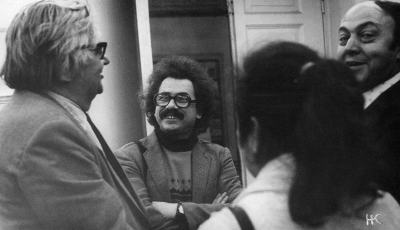 Ленинград. В Доме детской книги с Михаилом Ясновым. Октябрь 1985.