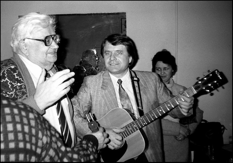 С Григорием Гладковым. 1991. Фото Г.Елина