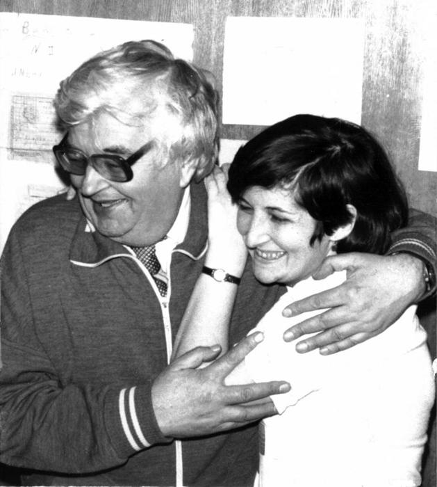 В. Берестов с дочерью. 1986