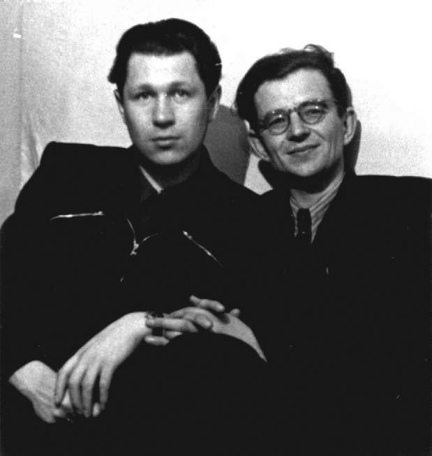 Вадим Прохоркин и Валентин Берестов. 2.05.1955