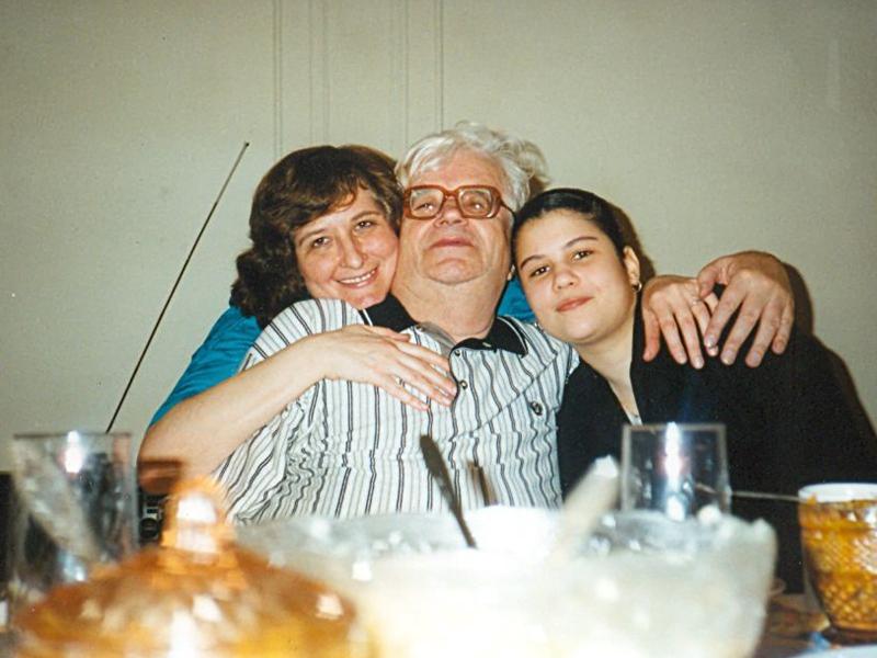 70-летие. Нью-Йорк. С Мариной и Маришей. 1 апреля 1998