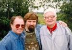 П. Гутионтов, А. Чернов, В. Берестов в Старой Ладоге. 1996