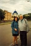 1996. На фоне еще не сгоревшего купола Троицкого собора