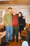Бостон. С внуком Раулем и его женой Анни. Март 1998